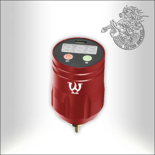 AVA Wireless Tattoo Power Supply - Red