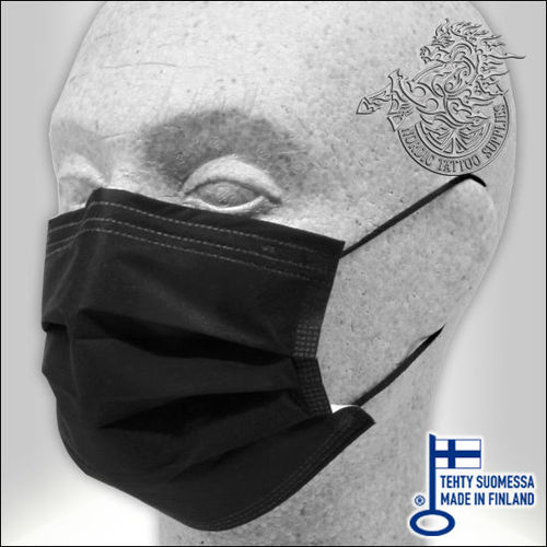 Lumi Medical Face Mask Type II 50pcs - Black - Made in Finland