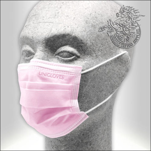 Unigloves Profil Plus SMALL Surgical Face Mask 50pcs - Pink - Type II-R